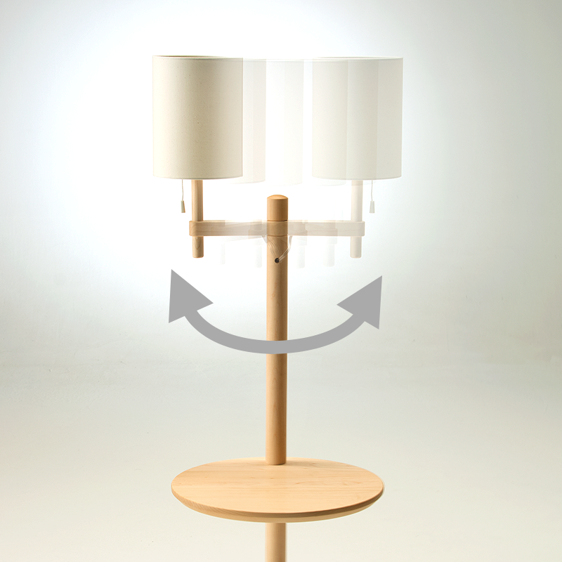 Arm lamp table