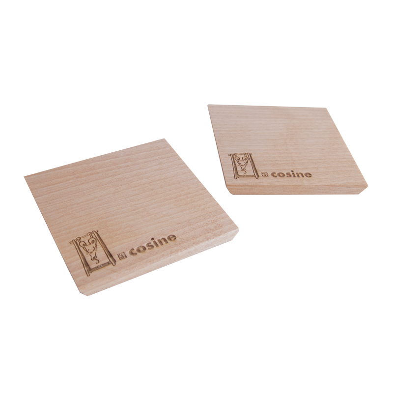 Set of 2 coasters made of birch wood [Kouichi Hoshi's work]