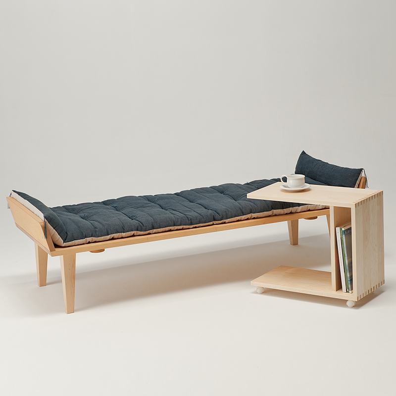 Nap sofa (main body + exclusive cushion) and wagon table set
