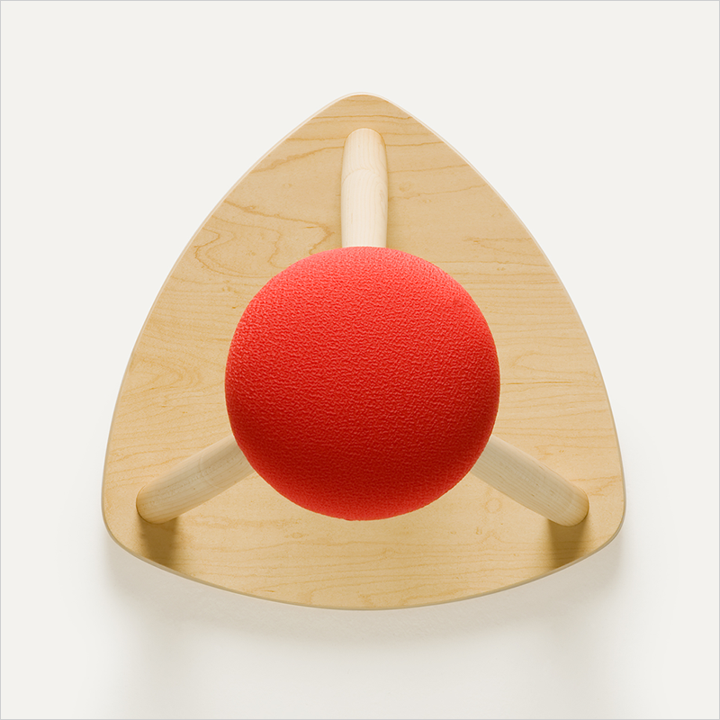 Kitchen stool in red hat
