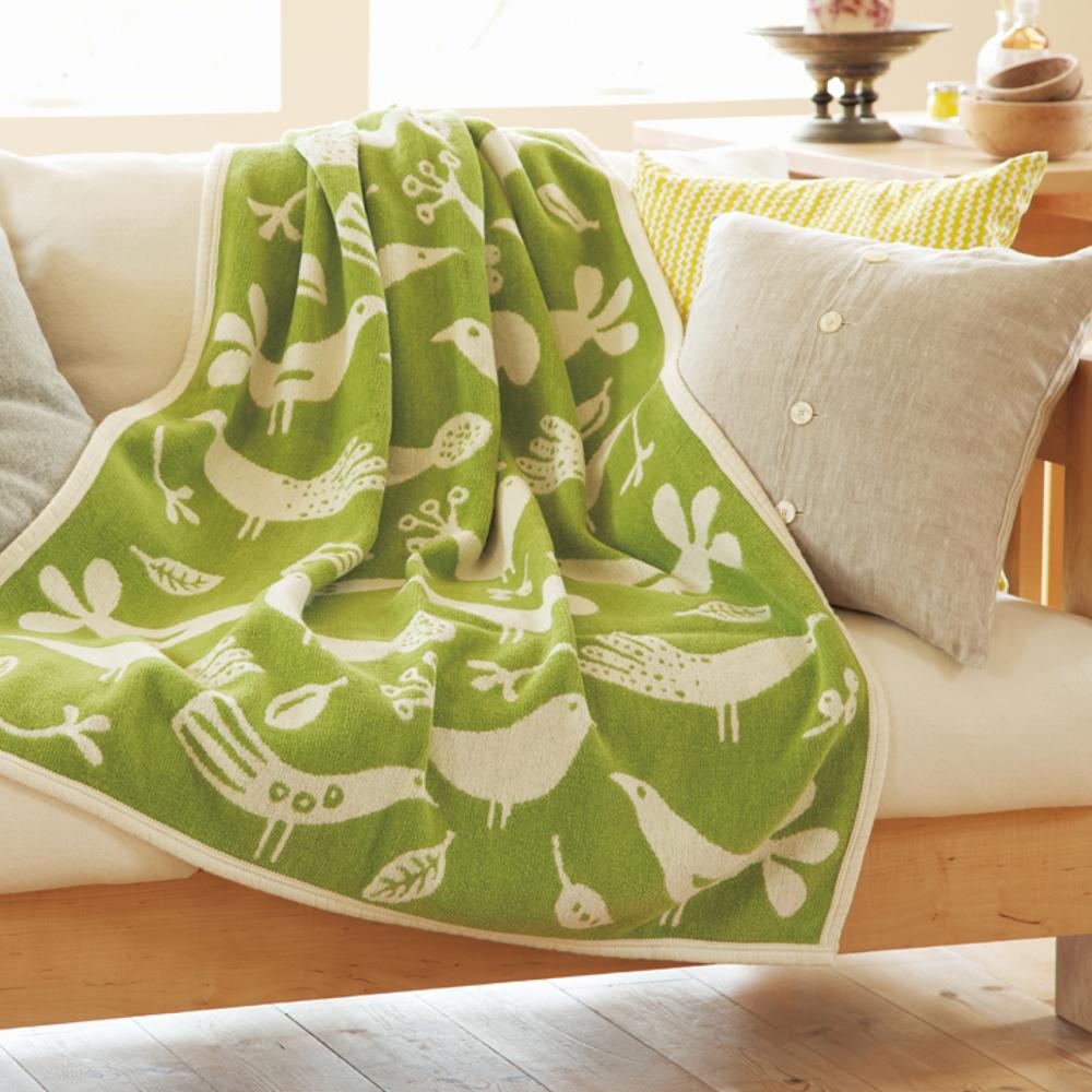 Chenil Cotton Half Blanket Bird [KLIPPAN]