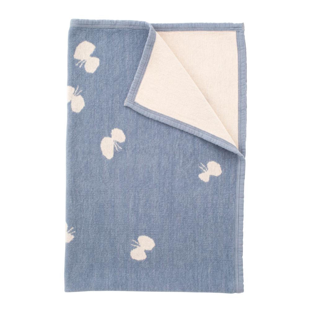 ChouCho cotton half blanket CHOUCHO / blue [KLIPPAN]
