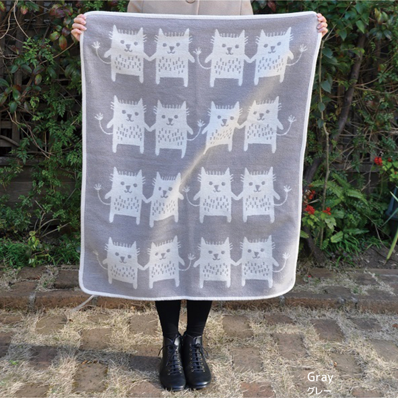Chenille Cotton Mini Blanket Bobcat [KLIPPAN]