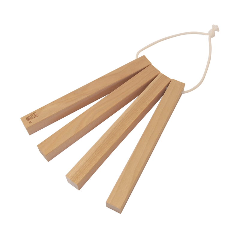 Four wooden birch pans [Kouichi Hoshi's work]
