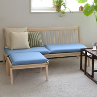 Seat cushion for living bench