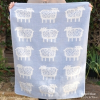 Chenille Cotton Mini Blanket Bengt Sheep [KLIPPAN]