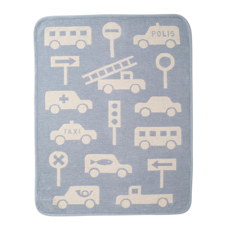 Chenil Cotton Mini Blanket Traffic Jam / Blue 2020 [KLIPPAN]